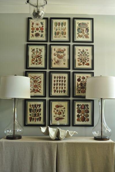 Bungalow Blue Interiors - Home - DIY: grid gallerywall