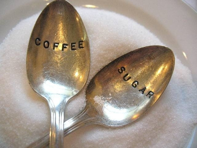 Vintage Silverware Silver Plate Coffee Sugar Spoon Set