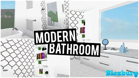 modern bathroom   bloxburg youtube