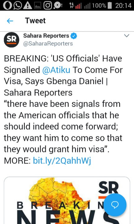 'US Officials' Have Signalled Atiku To Come For Visa – Gbenga Daniel