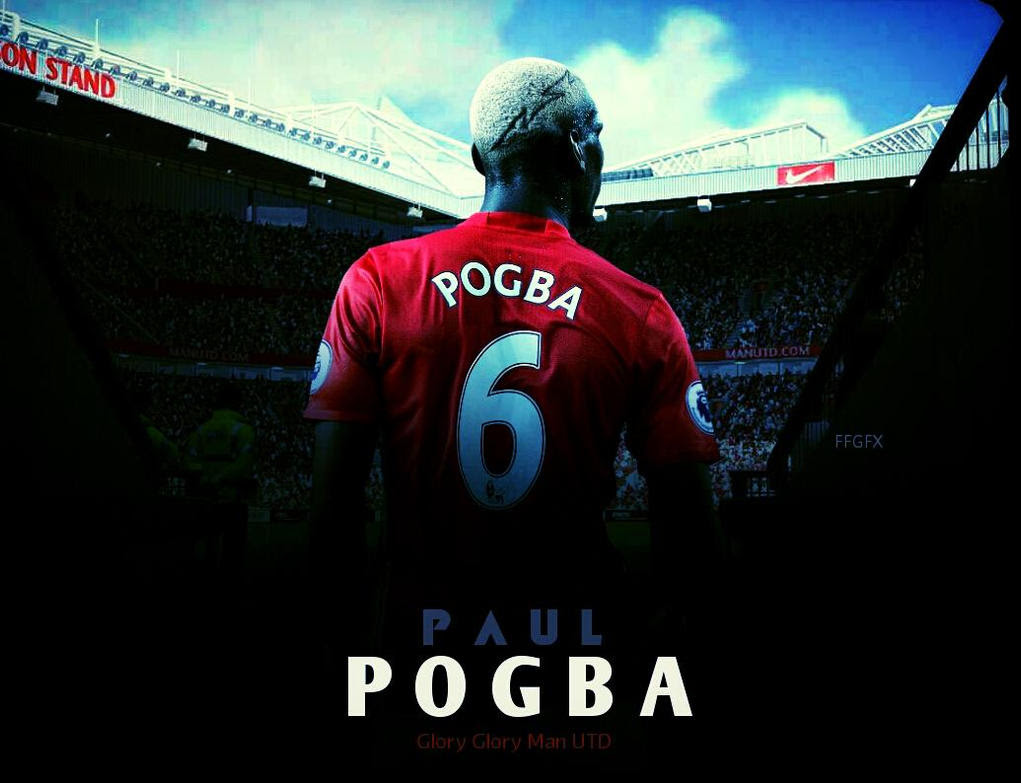 Paul Pogba Manchester United Hd Wallpaper By Ffgfx By Ffgfx7 On Deviantart