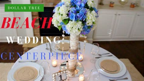 DOLLAR TREE WEDDING CENTERPIECE   DIY WEDDING DECORATIONS