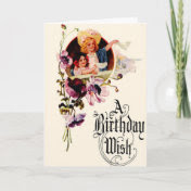 Vintage Birthday Wish Card