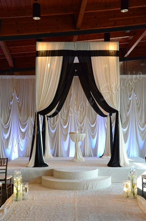 Black and white Alter/ Chuppa/ Gorgeous Draping