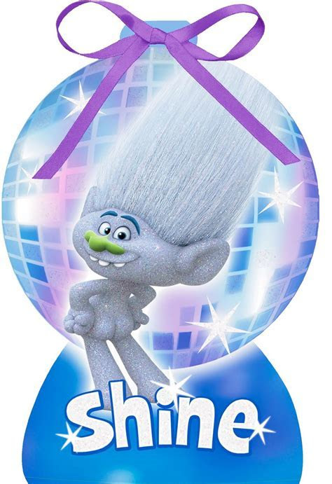 DreamWorks Trolls Guy Diamond Holiday Magic Christmas Card
