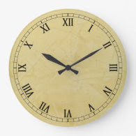 Tuscan Sun Faux Finish Wall Clocks