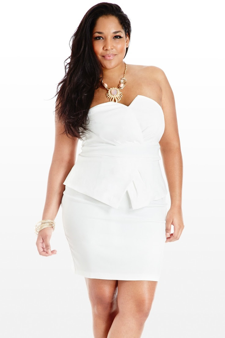 plus size white dress  dressedupgirl