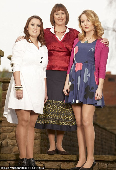Deceit: Lydia Webb today with her daughters Elspeth,(right) , now 22 and India (left)