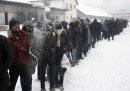 APTOPIX Serbia Europe Migrants Weather