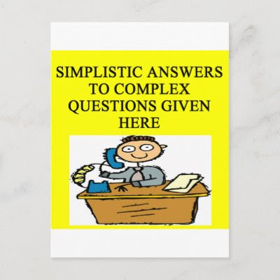 questions and answers joke post card by jimbuf. more funny desfigns in