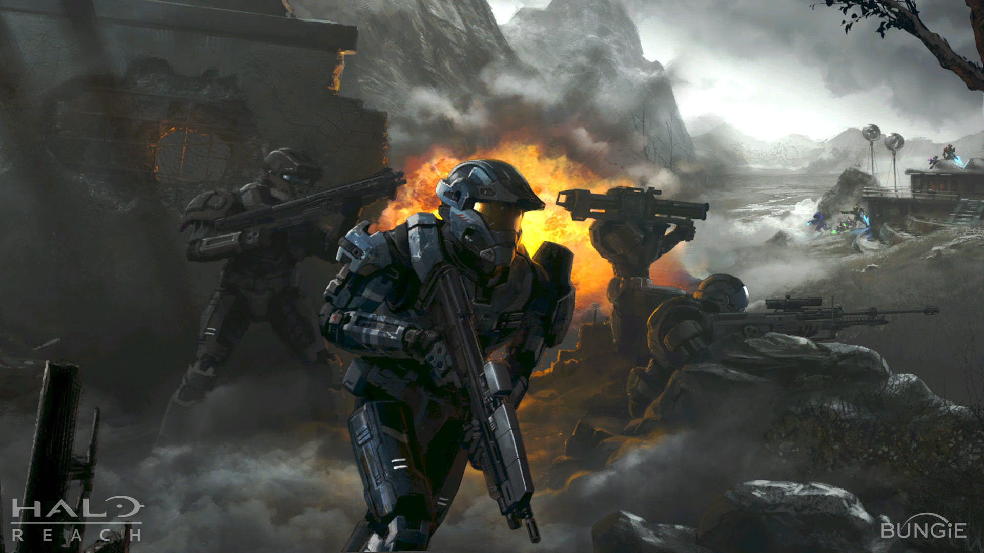 Halo Concept Art by Isaac Hannaford   #70 - Escape The Level