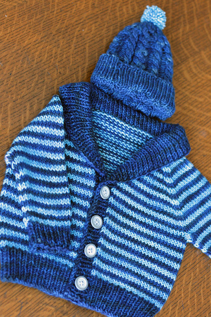 Gramps Cardigan with Hunter Hat