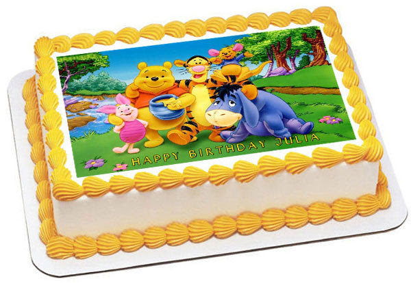 Winnie Pooh 1 Edible Birthday Cake Or Cupcake Topper Edible Prints