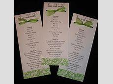 4 Best Images of Samples Of Wedding Programs   Wedding Reception Program Template, Wedding