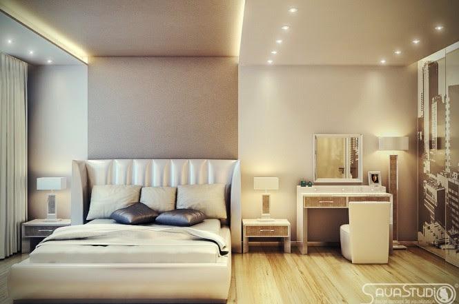 Neutral bedroom wardrobe decal
