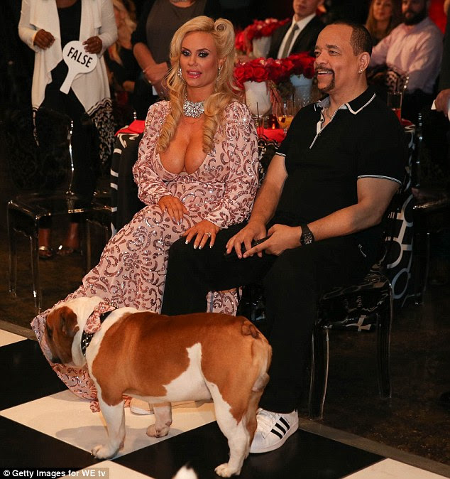 Parents-to-be: Austin was joined by her better half Ice-T as they played some games