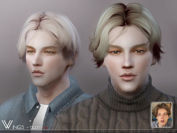 Sims 4 Hairs ~ The Sims Resource: WINGS-OE0111 hair