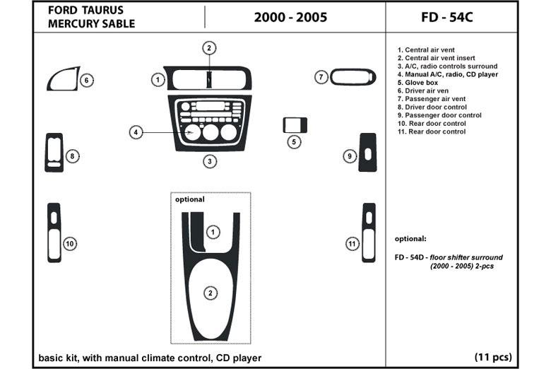 2000 Ford Taurus Diagram