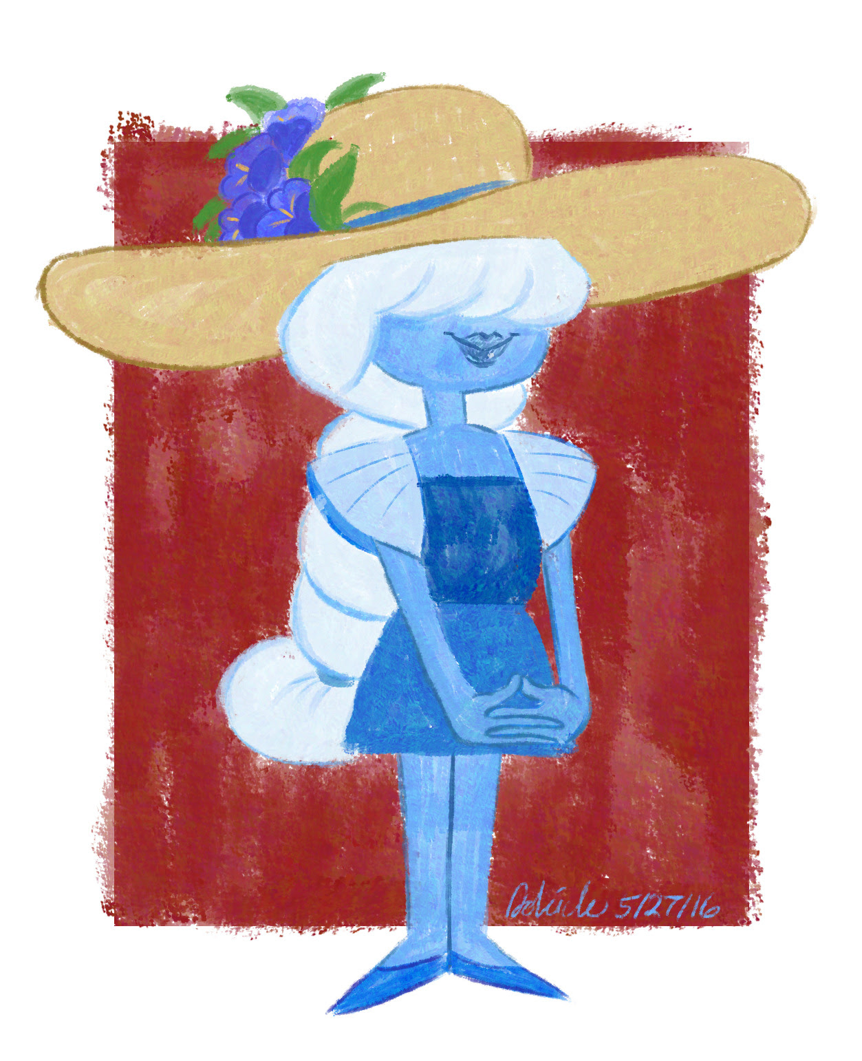 Sapphire in @kyletwebster 's claude monet imitation brush! (free to use as an icon)