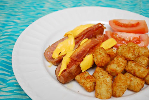 The Baron's Hot Dogs with Cheese & Bacon