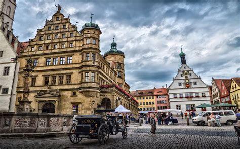 Rothenburg Ob Der Tauber Marktplatz Desktop Wallpaper Hd