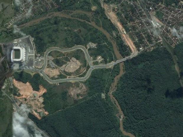 Arena Pernambuco, em São Lourenço da Mata, em foto feita em 22 de julho de 2013 (Foto: Base Aerofotogrametria)