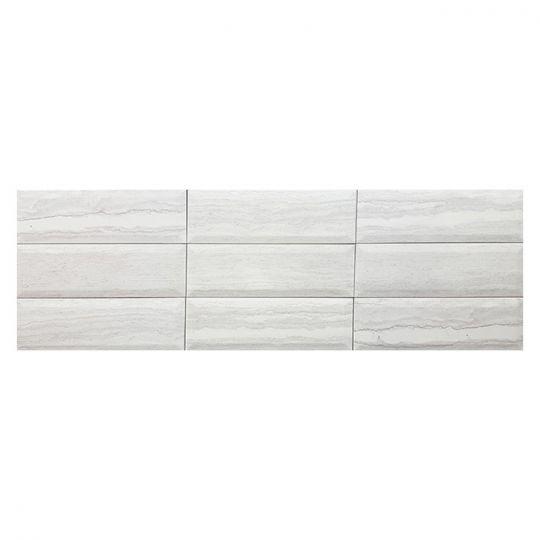 Tesoro Bisel Trav Gris Subway Tile 4 X 12