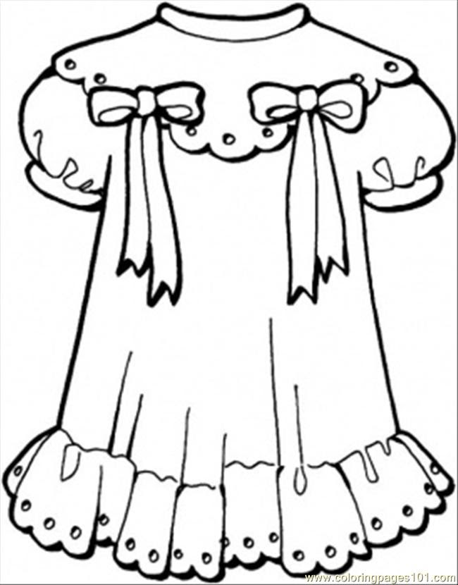 Coloring And Drawing Free Printable Winter Clothes Coloring Pages