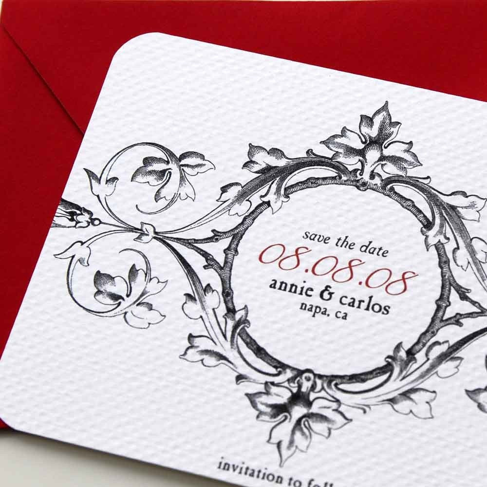 Black and white Save the Date cards set of 25