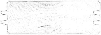 Profilo a doppio incastro in abete