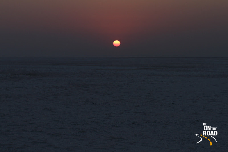 Sunrise over the salt desert of the Great Rann of Kutch, Gujarat, India