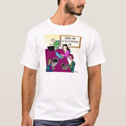 Computer Cartoon 8987 T-Shirt