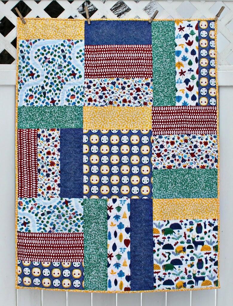 maureen cracknell handmade a forest collage quilt pattern