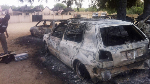 Aftermath of an attack on Bama prison in northeastern Nigeria. The attack broke out 100 prisoners on May 7, 2013. by Pan-African News Wire File Photos