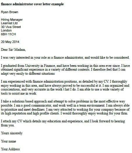 Sample cover letter for finance officer sorority positions on resume