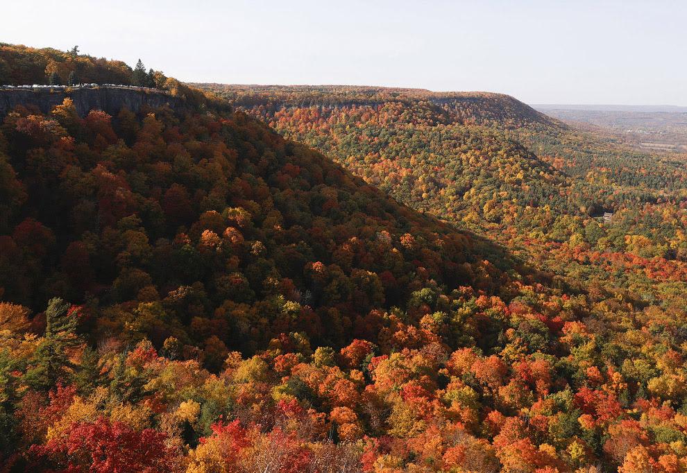 Невероятные краски в парке Thacher State Park, Нью-Йорк