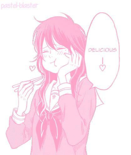 transparent pink manga girl tumblr