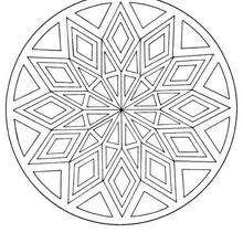 Dibujos Para Colorear Mandala Rombos Y Triángulos Eshellokidscom