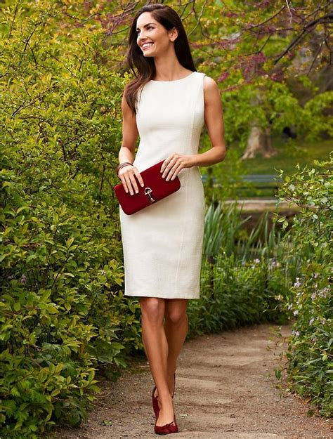 25  best ideas about White sheath dress on Pinterest