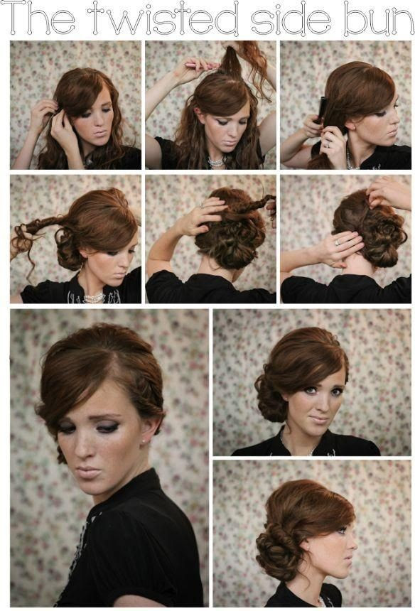 Twisted Side Bun Updo  Hairstyles  Tutorial  PoPular Haircuts