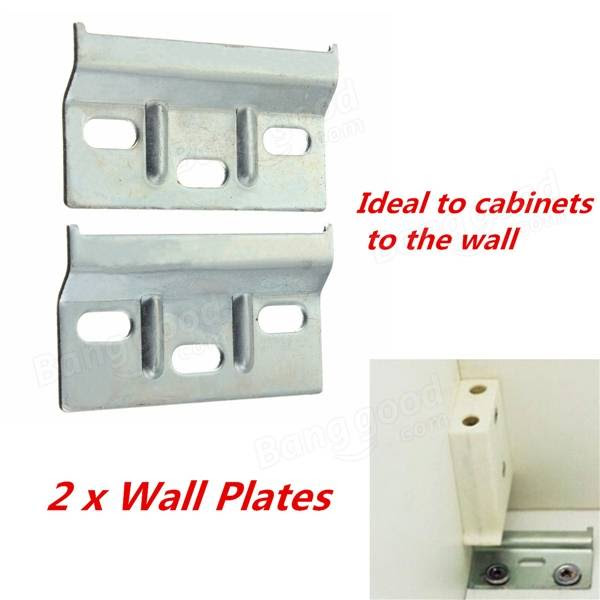 2pcs Wall Overhead Cupboards Hanger Plate Kitchen Cabinet ...