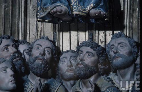 Detalle del altar mayor de la Catedral de Toledo en 1963. Fotografía de Dmitri Kessel. Revista Life (3)
