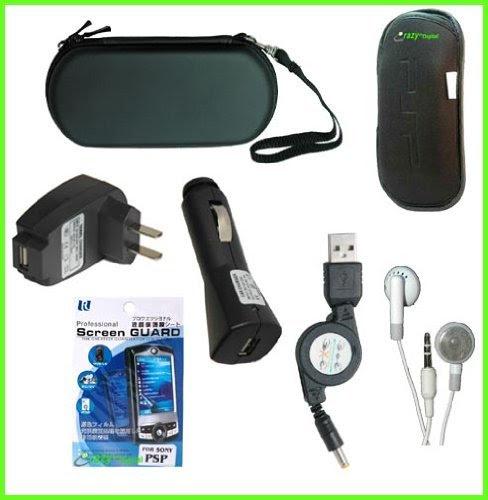 PSP 3000 7 Items Accessory Bundle