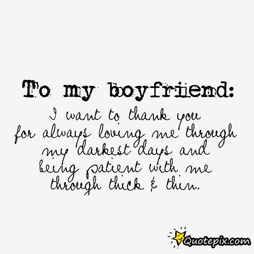Quotes About Thanks To Boyfriend 17 Quotes