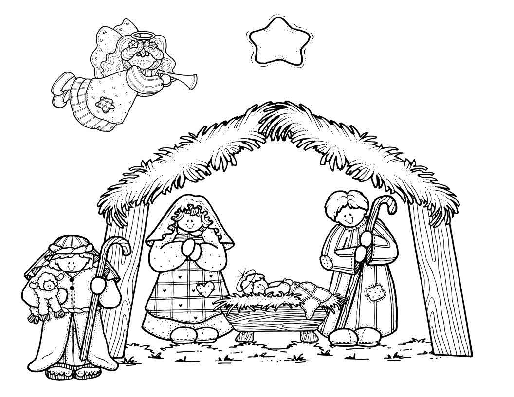 Free Nativity Coloring Pages Printable  Coloring Home