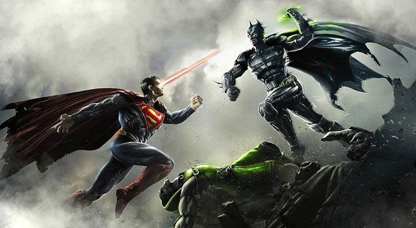 An illustration for the video game INJUSTICE: GODS AMONG US.