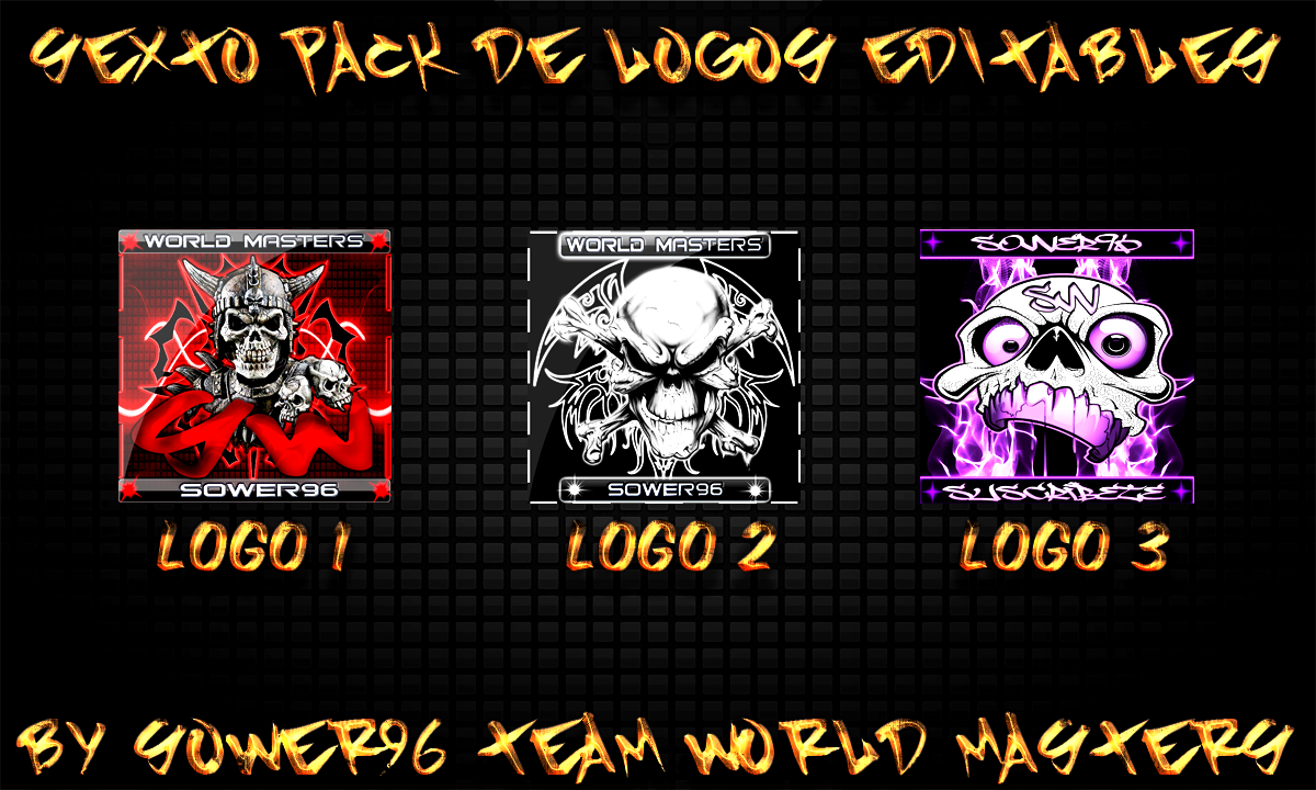 Sexto Pack de logos editables by sower96 by sower96 on DeviantArt