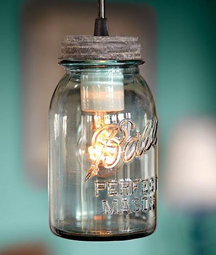 Antique Mason Jar pendants