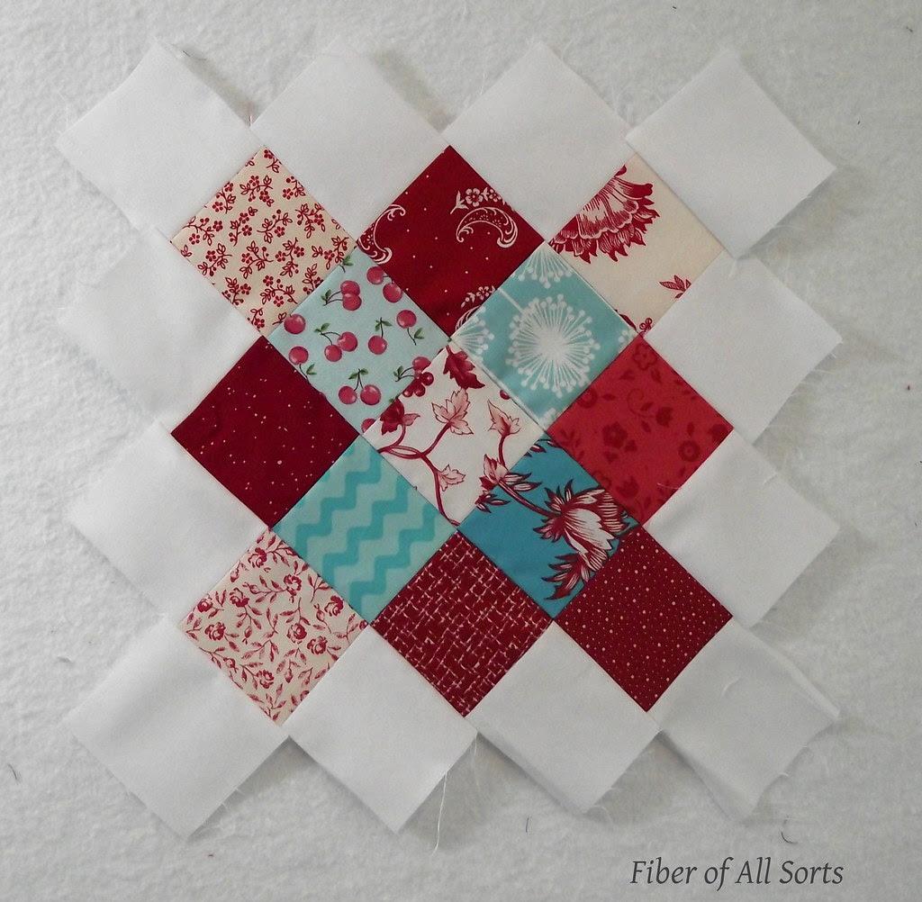 Aqua and Red - Block 1 May '12