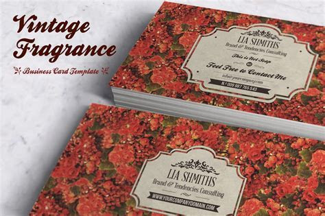 Fragrance Business Card Template ~ Business Card Templates